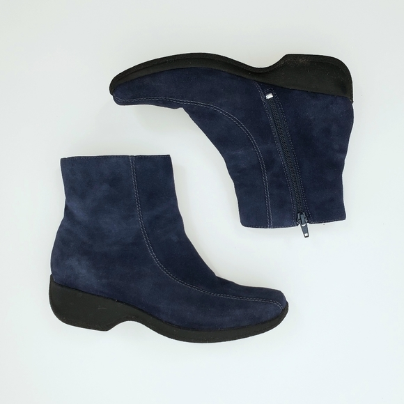 Clarks Shoes | Blue Suede Ankle Boots